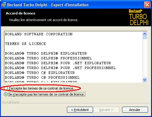 Téléchargement de Turbo Delphi Explorer, la version gratuite de